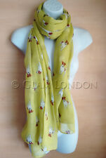 Jack Russell Print Scarf, Dogs Animal Womens Ladies Long Big Puppies GlamLondon