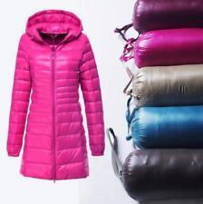 Women's Ultralight Long 90% Down Hooded Jacket Puffer Parka Coat S-6XL