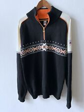 Dale of Norway 1/2 Zip Chunky Knit Sweater Wool size XL made in Norway Dalekvam