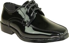 VANGELO/TUX-5 Wrinkle Free Mens Dress Shoes Bicycle Toe Black Patent Size 10W