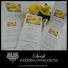 White Frangipani Wedding Invitations & Stationery - Samples Invites ONLY $1