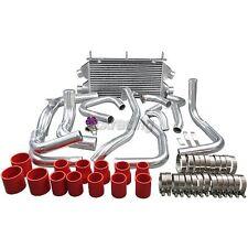 CXRacing Dual Core Twin Turbo Intercooler Kit +BOV For 90-01 3000GT Stealth TD04