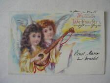 12373 AK Weihnachten Engel mit Mandoline PC 2 chrismas angel 1905