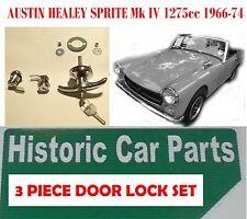 3 PEZZI PORTA / BOOT LOCK SET PER AUSTIN HEALEY SPRITE MK 4 1275cc 1966-74