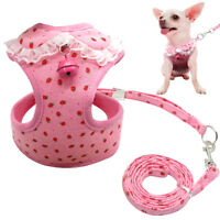 Pink Dog Harness set Soft Mesh Vest for XSmall Small Dog Puppy Yorkie S M L XL
