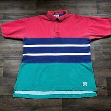 VTG Gant Salty Dog Washed Mens Colorblock Polo Shirt Size XL F54