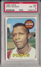 1969 TOPPS #62 CHICO SALMON - PSA 8 NM-MT (SVSC)