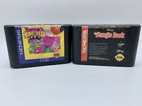 Sega Genesis Games Lot: Jungle Book & Barney Hide & Seek Game Tested Working