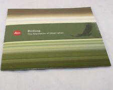Leica Birding-The Fascination of Observation Brochure telescope Guide (Cd) (En)