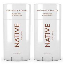Pack of 2 Native Deodorant Coconut & Vanilla Paraben And Aluminum Free 2.65 Oz