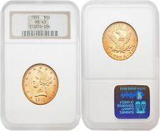 USA 1895 LIBERTY $10 Gold NGC MS63