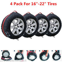 "4 Pcs 16""-22"" Wheel Tyre Protection Cover Car Truck Tire Carry Tote Storage Bags"