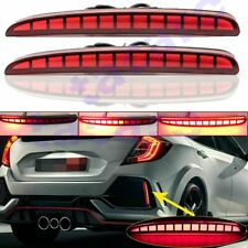 LED Sequential Turn Signal Tail Brake Light Lamp For Honda Civic Hatchback 17-19