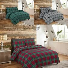 Soft Flannelette Duvet Cover Reversible Bedding Set With Matching Pillowcases