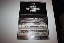 DUAL In der Hifi-Technik vorn PROGRAMM HEFT 1981/82 -- 16 Seiten Heft WERBUNG