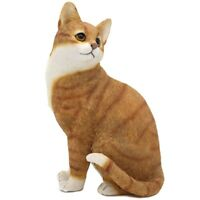 Ginger & White Cat Sitting Ornament Figurine Gift Boxed Cat Studies Collection