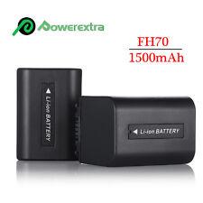 2 Battery For Sony NP-FH70 HandyCam HDR-HC9 DCR-HC52 DCR-SR42A DCR-SR45 DCR-SR47