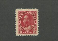 King George V 1911 Canada 2c Carmine Postage Stamp #106 Value $25