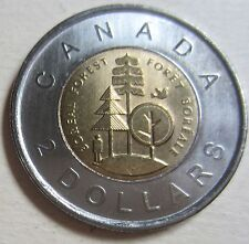 2011 Canada FOREST Toonie Two Dollar Coin (Mint Condition UNC.)