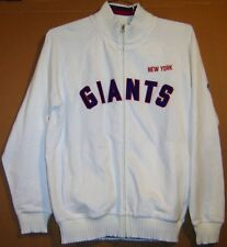 NEW YORK GIANTS WHITE PULLOVER LONG SLEEVED JACKET - Size Large