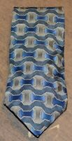 GIVENCHY MONSIEUR Mens Green Blue Gold Geometric 100% Silk Neck Tie Made in USA
