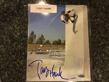 Tony Hawk Signed Auto 8x10 Photo Steiner Coa Amazing Up The Wall Skate Boarding