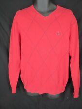 Tommy Hilfiger Mens Size M Medium Red Long Sleeve Pull Over Sweater