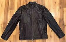 AFFLICTION Limited Edition Mens Leather Jacket Like New Sz Lg. BEAUTIFUL DETAILS