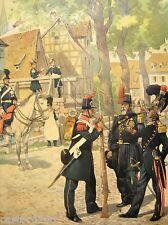 REGAMEY estampe encadrée 1911(3) UNIFORMES 1848 Garde civile Off. Sapeur pompier