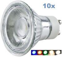 10er Pack LED Leuchtmittel GU10 230V Warmweiß Tageslichtweiß 3W 5W Blau Rot Grün