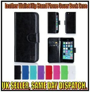 Leather Wallet Flip Stand Phone Cover Book Case iPhone 6 7 8 11 Pro XS Max