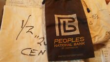 Lot of 3 Canvas Coin Bags.