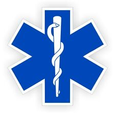 Star of Life Hard Hat Sticker | Helmet EMT Decal | Rescue Paramedic Firefighter