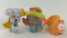 Bubble Guppies Lot of 3 Bath Pool Water Toys Mattel 2012 Molly Mr Grouper Puppy