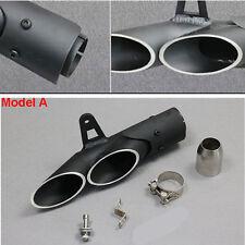 Aluminum Dual Motorcycle Exhaust Pipe Muffler Tuning Accessories Universal Black