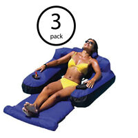 Swimline 9047 Swimming Pool Fabric Inflatable Ultimate Floating Lounger (3 Pack)