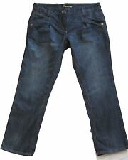 New Womens Dark Blue Tapered NEXT Jeans Size 10 Petite L 25 LABEL FAULT RRP £32