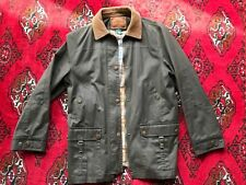Lauren By Ralph Lauren Mens Olive and Plaid Lined Safari Jacket, Size Small