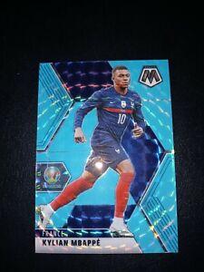 kylian Mbappe' France Euro Soccer blue Fluorescent mosaic # 112 Numberd #7/15
