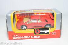 BBURAGO BURAGO 4151 LAMBORGHINI DIABLO RED MINT BOXED