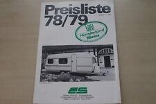 178081) Saure Wohnwagen Münsterland Lord Siesta Preisliste Prospekt 01/1979