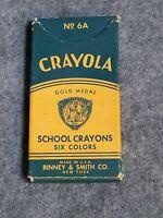Vintage Crayola School Crayons, Permanent, Waterproof, No. 6A