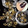 200pcs 3D DIY Acrylic Gear Nail Art Tips Crystal Rhinestones Decoration Wheel