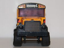 "1979 Buddy L 10"" Black Peterbilt Semi Tractor Trailer Container Truck Japan"