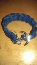 Ralph Lauren Polo Mens Braided anchor Bracelet  Navy Wrist strap NIB $40