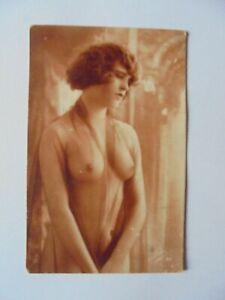 superbe cpa ancienne nue nu femme nue érotique authentique nude