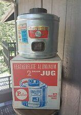 Poloron Aluminum Featherlite Vintage 2 Gallon Jug W/Fold Away Faucet A34