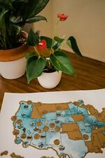 Personalized Scratch Your Travels® US National Parks Map (GOLD)