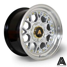 "Autostar Sprint 15"" x 8"" 4x100 et10 alloys fits Mazda Mx5 Vw Polo Golf HP SILVER"