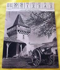 1959 Image Poster EYNESSE (GIRONDE). CHATEAU du BARRAIL, Poterne d'entrée